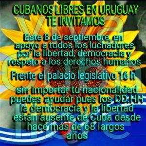 Uruguay en coordinación Somos+, Acciones x la Democracia allí; contacto: uruguay@somosmascuba.com