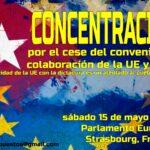 Cubanos en Europa convocan manifestación el el Parlamento Europeo en Strasburgo, Francia