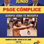 Somos+ convoca protesta contra la complicidad del #PSOE con el régimen de La Habana